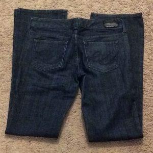 61 Express S Ella Boot Cut dark denim jeans